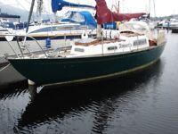 """Elizabethan 29 Yacht """"Avosetta"""" with inboard Diesel engiine, heating, long keel"""