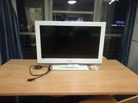 """Samsung 40"""" White TV with remote, base etc."""