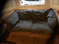 Habitat rattan small sofa