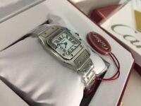 New Swiss LADIES Cartier Santos Stainless Steel Watch