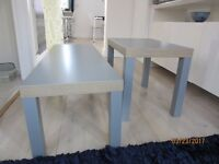 Set of two grey coffee tables in perfect condition