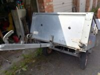 All galvanised metal trailer - Needs TLC
