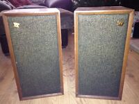 Wharfedale Super Linton W30D Speakers 1971. Excellent Speakers