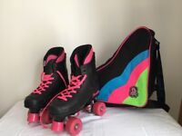 Roller boots (street 86) complete with Rio roller bag