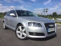 2009 AUDI A3 1.9 TDI S LINE REPLICA; 2 OWNER CAR, FULL SERVICE HISTORY 5dr