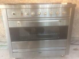 5 burner dual fuel cooker