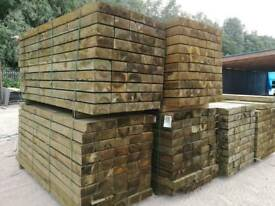 Tanalised Garden Sleepers 95mm x 195mm 2.4mtr Lengths