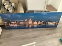 Liverpool waterfront Canvas