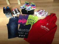 Hollister, Superdry, Adidas, DC Hightops, All Star Conversers etc