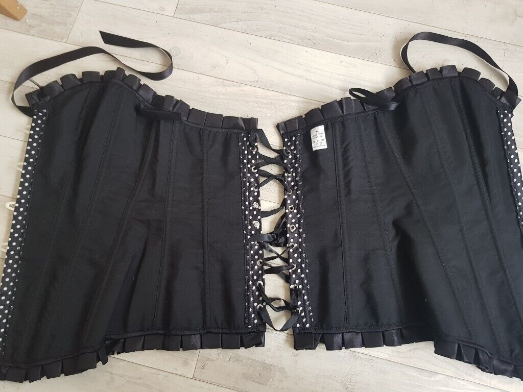 2cff796cae0d2f Black with white dots corset | in Camden, London | Gumtree