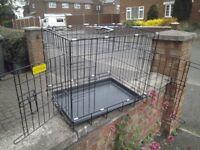 black dog cage in vgc 2 door access