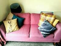 Trendy 3 seater and large armchair