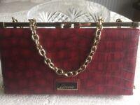 Linea Red / Gold Clutch Handbag