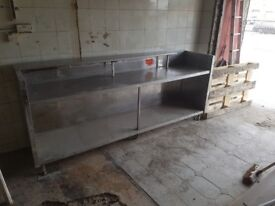 Stainless steel commercial kitchen unit