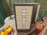 10 draw filling cabinets ideal for tools x2 1 is £30 and 1 is £40