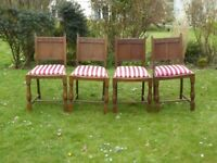 VIntage Set of 4 Oak Arts & Craft Style CC41 Utility Chairs (1940's)