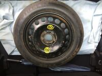 New and unused 125/85 R16 space saver wheel & tyre. To suit Vauxhall Meriva or similar