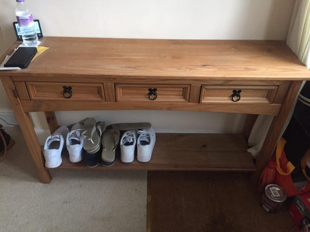Corona pine console table
