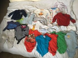 22 items Used Baby boy clothes bundle 6 - 9 months