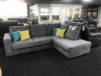 Corner Sofa in grey Fabric