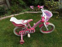 "Hello Kitty girls bike - 14"" wheels - Good, used condition"
