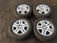 "For sale - Vw golf mk4 15"" alloy wheels - good tyres"