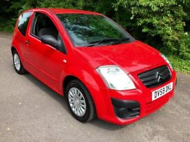 Citroen C2 1.1 i Hatchback 3dr Petrol Manual (138 g/km, 61 bhp) low insurance, S/History