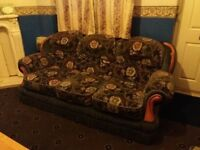 3 piece fabric sofa set