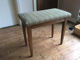 VINTAGE Solid Wood Piano Stool with Book/Music/Accessories Storage Compartment (CAN POST or DELIVER)