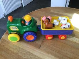 Old McDonald Farmhouse and Tractor Set