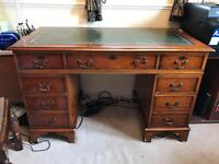 Victorian Pedestal Desk