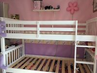 White Wooden Bunk Beds