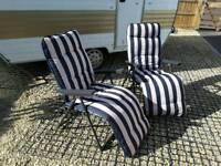 Pair of Garden Recliner Chairs