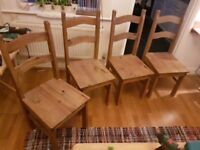 4 beautiful chairs and optional Dining Table