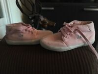 Girls pink Lacoste pump boots
