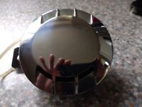 Motorcycle Horn. Chrome . Brand New. 12 volt. Removed from a brand new delivered Motorcycle.