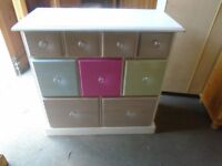 Pine chest of 9 drawers
