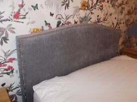 DONT MISS IT Double Bed Frame. Stunning Grey Velour. Quick Sale now £75