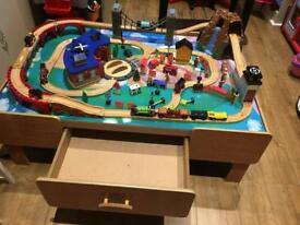 Children's Wooden Train Table