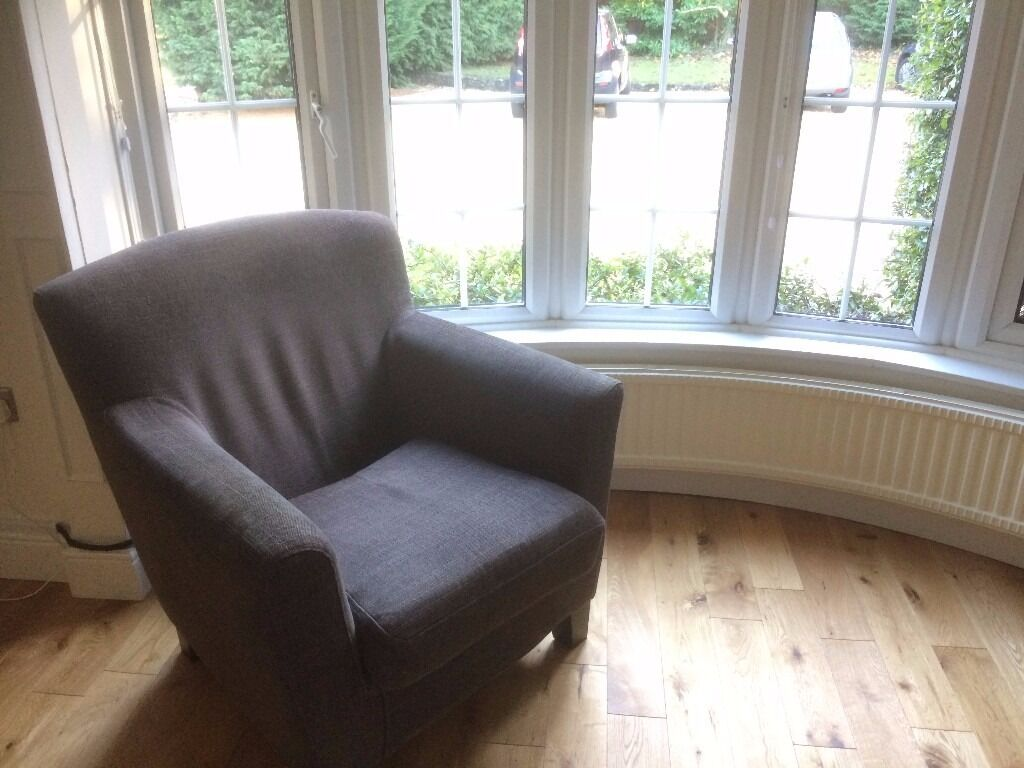 TWO GREY ARMCHAIRS IN GREAT CONDITION