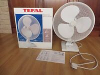 Electric Fan, Large 40cms. 3 settings, Oscillating, Brand Tefal, White