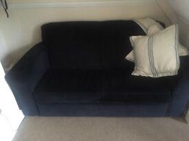 Navy blue habitat sofa bed