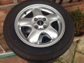 "15"" BMW Mini Cooper wheels (with brand new tyres)"