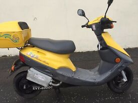 EVT 4000E ELECTRIC SCOOTER ,30 MPH RANGE 28 MILES FREE TAX COST PENCE TO RUN £475