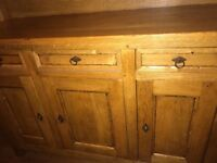 antique oak dresser and dining table with chairs to match