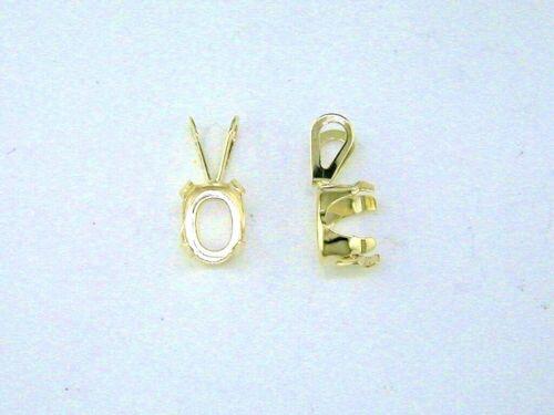 Oval 4 Prong Snaptite Pendant Setting 14kt Yellow Gold