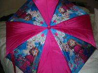 """""""DISNEY'S FROZEN"""" - PINK ELSA/ANNA UMBRELLA - NEVER USED/IMMACULATE"""