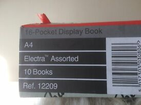 Large Quantity New Surplus Snopake 12209 A4 Electra Display Books with 16 Pockets - Price per Box