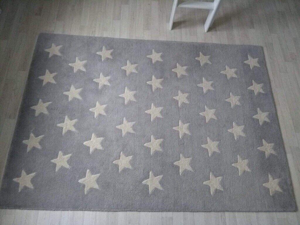 extra large xl grey star rug x-large