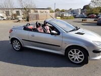 Peugeot 206 sd convertible 47k